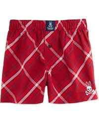 Psycho Bunny Red Woven Boxer - Lyst