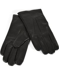 Paul Smith - Leather Gloves with Wool Lining - Lyst