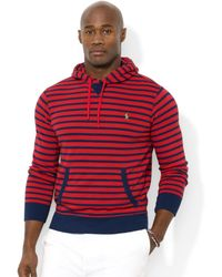 Ralph Lauren Polo Big and Tall Vineyard Lane Striped Fleece Hoodie - Lyst