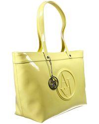 Armani Jeans Handbag Patent Keystone Shopping 1 Zip - Lyst