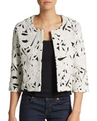 Sachin & Babi Embroidered Cotton Bolero Jacket - Lyst