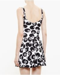 Jeremy Scott Silk 8-Ball Dress black - Lyst