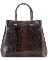Victoria Beckham - Liberty Embossed Leather Tote - Lyst