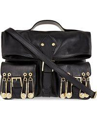 Versus  Versus Foldover Leather Bag - Lyst