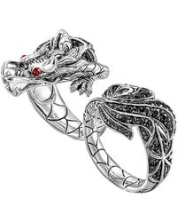 John Hardy Naga Silver Two-finger Dragon Ring - Lyst