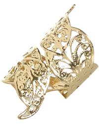 River Island Gold Tone Filigree Foldover Ring - Lyst