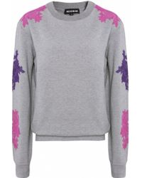 House Of Holland Floral Embroidered Sweater - Lyst