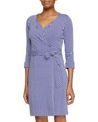 Diane von Furstenberg Jungle Diamond Knit Wrap Dress - Lyst
