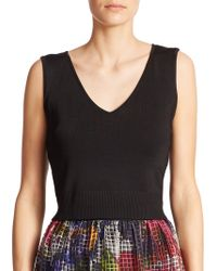 Phoebe Knit Cut-Out Top - Lyst