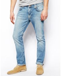 Nudie Jeans Thin Finn Slim Fit Organic Summer Sky - Lyst