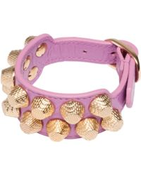 Balenciaga Giant Gold Bracelet Stud M - Lyst