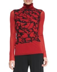 Jean Paul Gaultier Longsleeve Graffiti Turtleneck - Lyst
