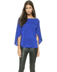 Milly Butterfly Sleeve Blouse - Cobalt - Lyst