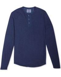 Lucky Brand Thermal Henley Shirt - Lyst
