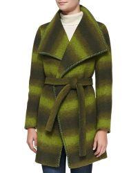 Trilogy - Wool-blend Ombre Wrap Coat - Lyst