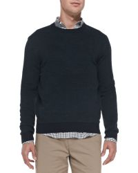 Theory Skene Birdseye-knit Sweater - Lyst