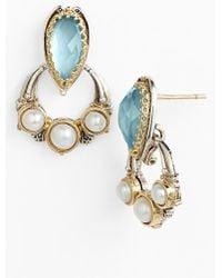 Konstantino 'Amphitrite' Pearl & Semiprecious Stone Drop Earrings - Swiss Blue Topaz/ Pearl - Lyst