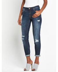 River Island Ashley Slim Boyfriend Jeans - Lyst