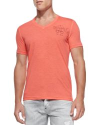 DSquared2 Slub V-neck Handcuff Tee - Lyst