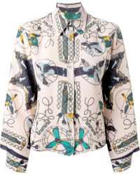 Jean Paul Gaultier Fans Print Shirt - Lyst