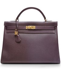Heritage Auctions Special Collection Hermes 40cm Raisin Togo Retourne Kelly - Lyst
