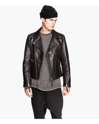 H Amp M Leather Biker Jacket Lyst