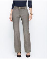 Ann Taylor Curvy Pinstripe Trousers - Lyst