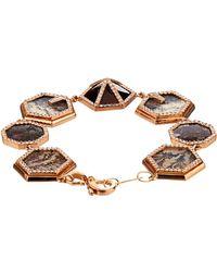 Monique Péan - Diamond, Opal, Agate & Rose-Gold Bracelet - Lyst