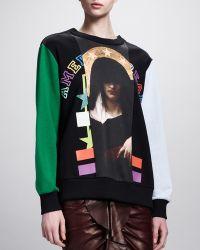 Givenchy - Madonna Print Contrast Sweatshirt - Lyst