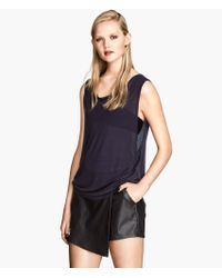 H&M Black Sleeveless Top - Lyst