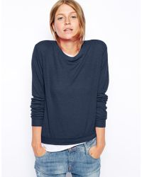 Asos Cropped Sweatshirt in Super Soft Touch Fabric - Lyst