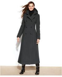 Anne Klein Petite Doublebreasted Woolblend Hooded Maxi Coat - Lyst