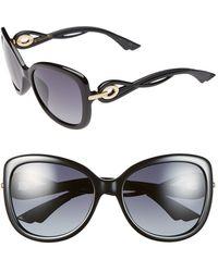 Dior Women'S 'Twisting' Oversized 58Mm Sunglasses - Black - Lyst