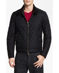Burberry Brit - 'howson' Quilted Bomber Jacket - Lyst