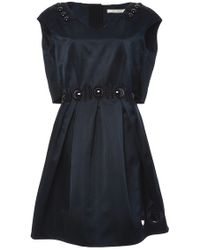 Marc Jacobs Silk V-Neck Dress With Cabuchon And Guipure Detail - Lyst