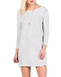 Volcom | 'lived In' Stripe Dress | Lyst