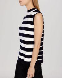 Karen Millen Top - Clean Graphic Stripe Collection blue - Lyst