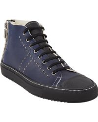 Rocco P - Twotone Hightop Sneakers - Lyst