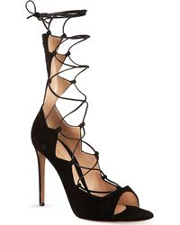 Gianvito Rossi Amber Lace-up Sandals - Lyst