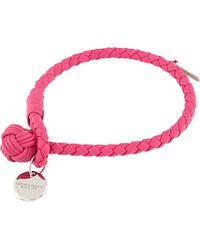 Bottega Veneta - Woven Leather Bracelet - For Women - Lyst