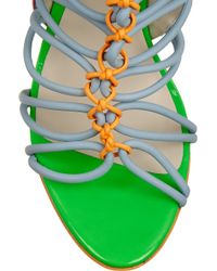 Sophia Webster - Lacey Baby Color-block Suede And Patent-leather Sandals - Lyst