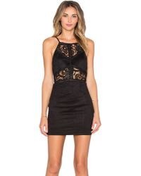 JOA | Lace Cut Out Bodycon Dress | Lyst