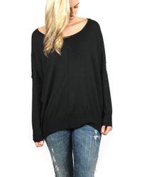 H.one | Scoop Neck Swing Sweater | Lyst