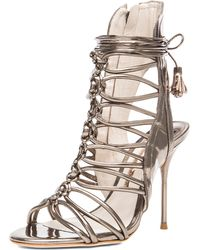 Sophia Webster Lacey Leather Heels - Lyst
