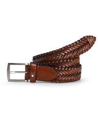 Tommy Hilfiger Leather Braided Belt - Lyst