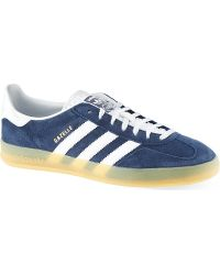 Adidas Gazelle Indoor Trainers Blue - Lyst