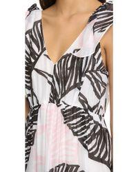 Thakoon Addition - Printed Tie-shoulder Maxi Dress - Lyst