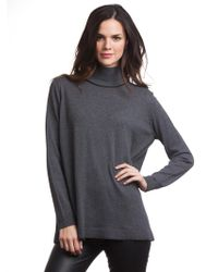 """525 America """"Jen"""" V-Back Tunic With Leather Trim - Lyst"""