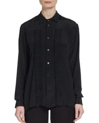 Marni Pleated-ruffle Blouse - Lyst