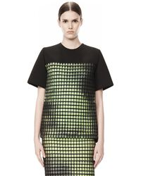 Alexander Wang Crew Neck Tee with Thermo Inlay - Lyst